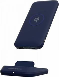 Внешний аккумулятор InterStep 10DQi с док-станцией и беспроводной зарядкой 10000 мАч (синий)