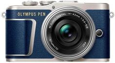 Цифровой фотоаппарат Olympus E-PL9 kit 14-42 EZ (серебристый, синий)