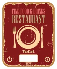 Кухонные весы Tefal BC5104V1 (красный)
