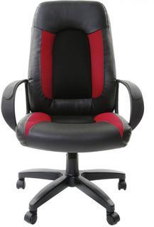 Кресло руководителя BRABIX Strike EX-525 (черный, черно-бордовый)