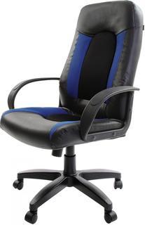 Кресло руководителя BRABIX Strike EX-525 (черно-синий)
