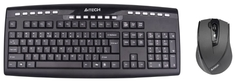 Клавиатура A4Tech 9200F GlassRun Wireless V-Track Desktop (черный)