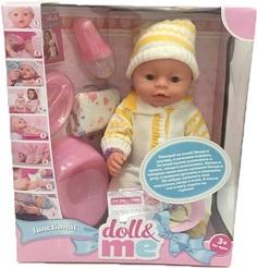 Кукла S+S TOYS BL009A Пупс DOLL&ME функциональный