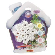 Набор для творчества BONDIBON Ёлочные украшения - снежинка (разноцветный)