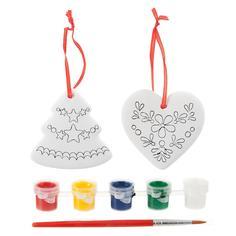 Набор для творчества BONDIBON Ёлочные украшения - сердце, елочка (разноцветный)