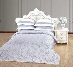Комплект постельного белья VERONICA FRANKO Монсоро Евро (белый, пепельный)