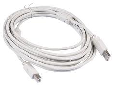 Кабель Buro USB2.0-AM/BM-5M-MG USB A(m) USB B(m) 5м