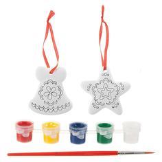 Набор для творчества BONDIBON Ёлочные украшения - звездочка, колокольчик (разноцветный)