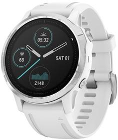 Спортивные часы Garmin Fenix 6S (белый, серебристый)