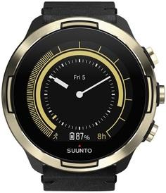 Спортивные часы Suunto 9 BARO GOLD LEATHER SS050256000 (черно-золотистый)