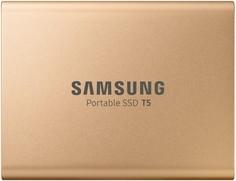 Внешний SSD Samsung T5 500Gb MU-PA500G/WW (золотистый)