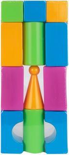 Развивающая игрушка Нордпласт Конструктор выдувной Кубики (12 деталей) Нордпласт.
