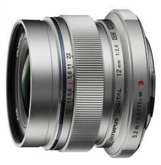 Объектив Olympus M.Zuiko Digital ED 12mm 1:2:0 / EW-M1220 серебристый