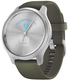 Умные часы Garmin vivomove Style S/E EU Silver Moss Silicone (010-02240-21)