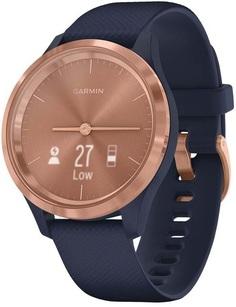 Умные часы Garmin vivomove 3S S/E EU Rose Gold Navy Silicone (010-02238-23)