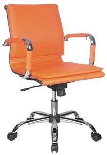 Кресло руководителя Бюрократ CH-993-LOW (оранжевый)