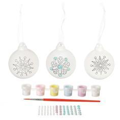 Набор для творчества BONDIBON Ёлочные украшения с бусинами - 3 шарика (разноцветный)