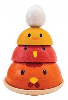 Сортер Plan Toys Куриное гнездо (разноцветный)