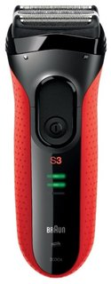 Электробритва Braun Series 3 3030s (черно-красный)