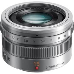 Объектив Panasonic Lumix LEICA DG SUMMILUX 15mm f1.7 ASPH (серебристый)