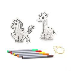Набор для творчества BONDIBON Елочные украшения - жираф, лошадка (разноцветный)
