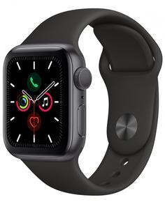 Умные часы Apple Watch Series 5, 44 мм, корпус из алюминия цвета «серый космос», спортивный ремешок цвета черный