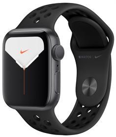 Умные часы Apple Watch Nike Series 5, 44 мм, корпус из алюминия цвета «серый космос», спортивный ремешок Nike цвета антрацитовый/черный