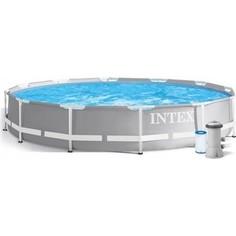 Каркасный бассейн Intex 26716 Prism Frame 366х99 см фильтр-насос 2006 л/ч , лестница, 8592л, 41кг