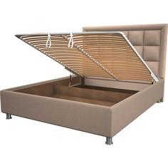 Кровать OrthoSleep Альба cream механизм и ящик 160x200