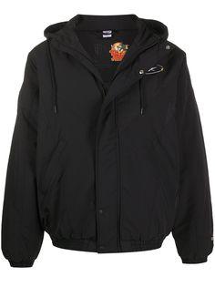 Reebok куртка с капюшоном и логотипом