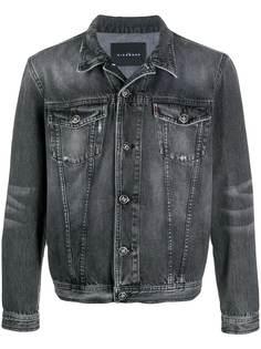 John Richmond джинсовая куртка с эффектом потертости