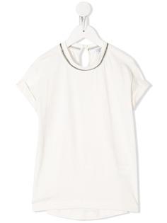 Brunello Cucinelli Kids футболка с короткими рукавами