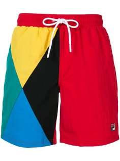 Fila плавки-шорты в стиле колор-блок