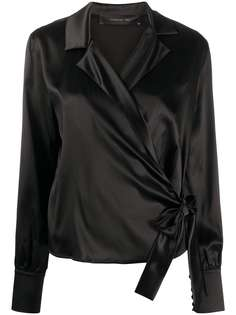 Federica Tosi приталенная блузка с запахом