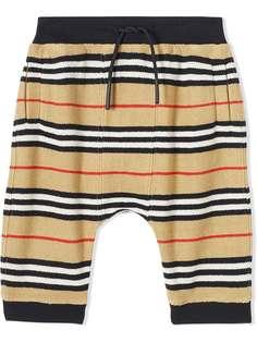 Burberry Kids спортивные брюки в полоску Icon Stripe