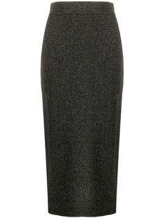 Kenzo юбка Holiday Capsule с эффектом металлик