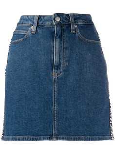 Calvin Klein Jeans джинсовая юбка с логотипом