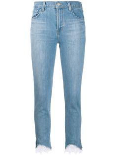 J Brand джинсы скинни с кружевной отделкой