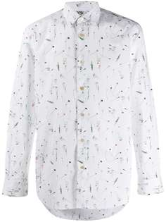 Paul Smith строгая рубашка с принтом Cut Flowers