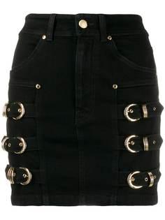 Versace Jeans Couture юбка мини с пряжками