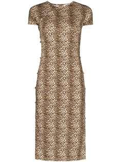 Marcia платье миди Tchikiboum с леопардовым принтом