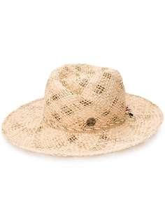 Maison Michel шляпа-федора Rose