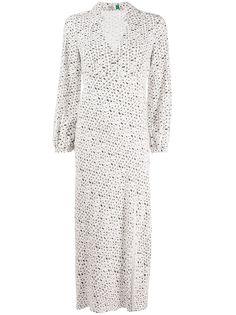 Rixo длинное платье-рубашка с принтом
