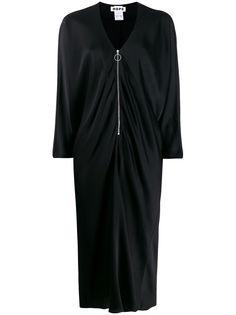 Hope атласное платье миди с драпировкой
