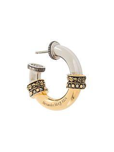 Alexander McQueen декорированные серьги-кольца