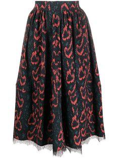 Calvin Klein юбка миди со змеиным принтом