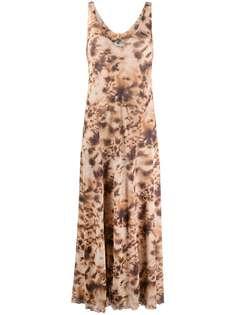Nanushka платье макси с V-образным вырезом и принтом тай-дай