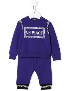 Young Versace спортивный костюм с контрастным логотипом