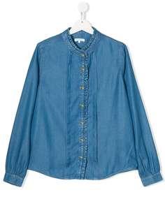 Chloé Kids джинсовая рубашка с оборками