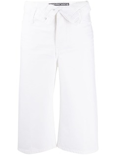 Alexander Wang укороченные джинсы с завышенной талией